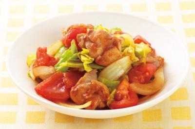 鶏とトマトの炒め蒸し