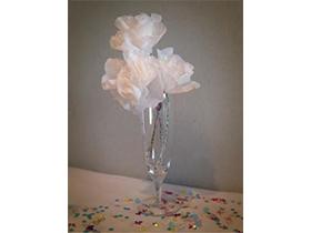 夏にうれしい枯れないお花♪おはながみとマステで作る 「フラワーブーケ」