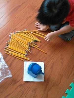 鉛筆削りでボランティア活動