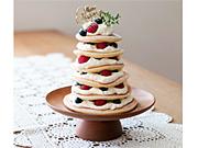 <クリスマス>ツリーパンケーキ