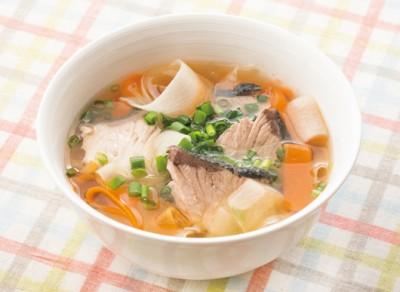 ブリとひらひら大根のスープ