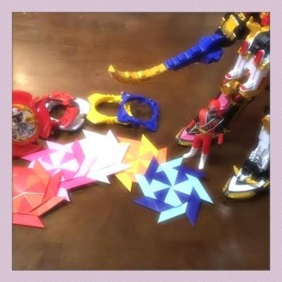 【ニンニンジャー風手裏剣】〈折り紙第1弾〉変形できる!