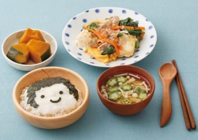 小松菜チャンプルーと麦とろご飯定食