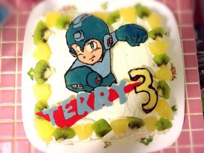 ロックマンケーキで次男の誕生祝い☆
