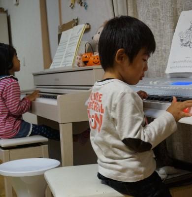 【ピアノ動画】4歳息子6歳娘の習い事