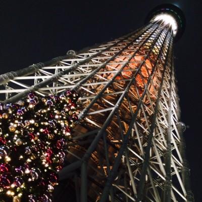 東京スカイツリータウンのクリスマスイルミネーション
