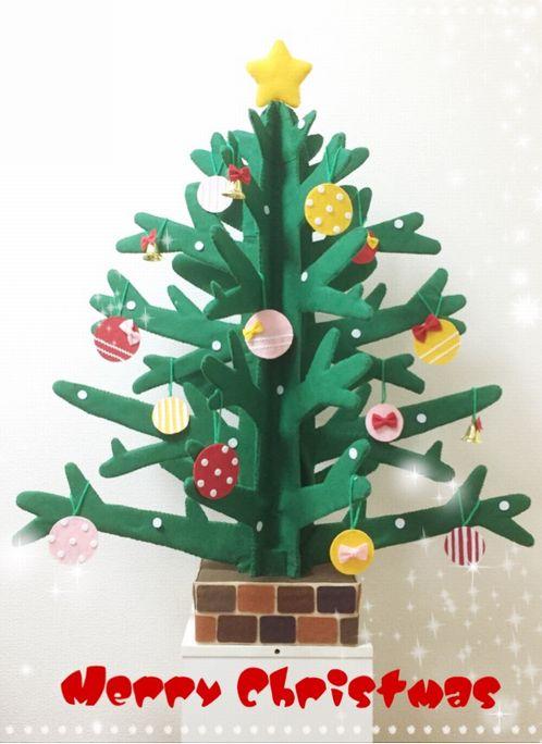 ダンボール クリスマス ツリー 手作り 大きい