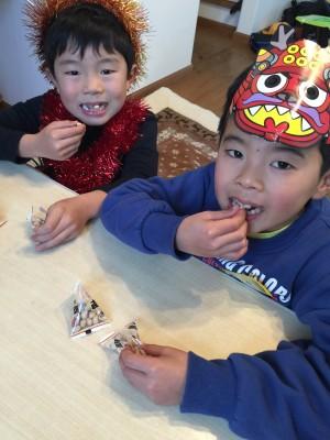 2016年節分、豆まきとすっかり定番化した恵方巻