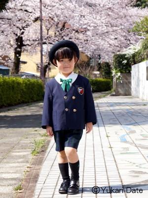 【行事】満開の桜下で成長記録撮影するために