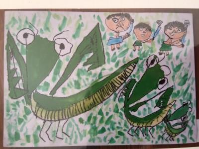 次男の絵が世界児童画展で入賞をいただきました。