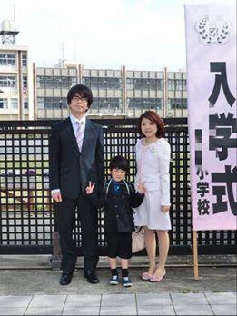 小学校の入学式。次男新1年生、長男2年生へ進級しました。