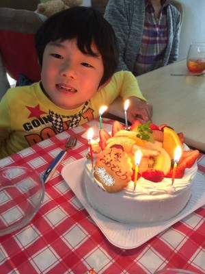 次男の入学祝パーティをしました。