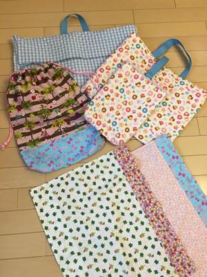 4期初投稿【入学準備】ミシンの手入れをして縫い物も完了!!