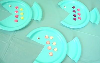 紙皿で簡単お魚作り