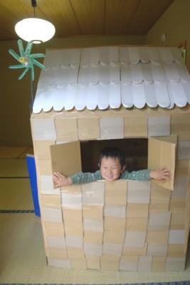 ★手作り「段ボールハウス」★子ども大喜び!!