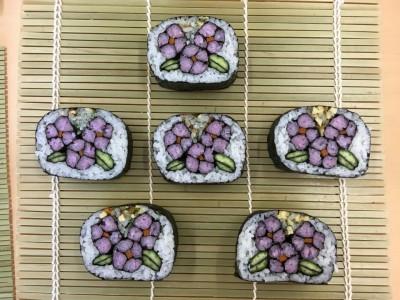 季節に沿った飾り巻き寿司の作品紹介