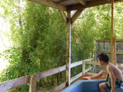 アメリカで温泉、貸切露天風呂でござる♪@Hot Springs NC