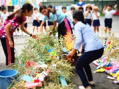 295☆幼稚園行事〜七夕とお焚きあげ。短冊や七夕飾りの処分方法。