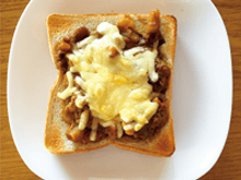 チーズ載せ夏野菜カレーパン