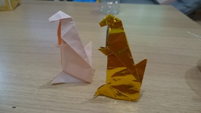 【ゴジラ】自立する「ゴジラ」の折り方、折り紙でできる!