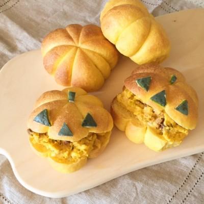ハロウィンパーティにピッタリ♪カボチャ型のかぼちゃパンの作り方♪
