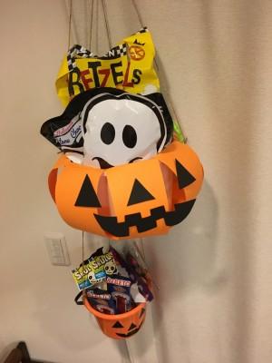 【ハロウィン】年少の娘と30分以内300円で作れる!かぼちゃバケツ!!