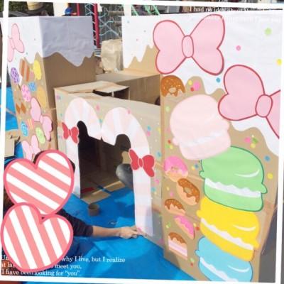 大型の手作りおもちゃがいっぱい♪ 幼稚園のバザー「手作りおもちゃ広場」
