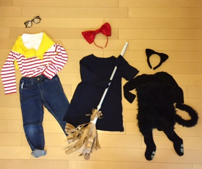 ハロウィンパーティ♪魔女の宅急便の仮装は普段使いのお洋服をアレンジで♪