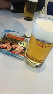 地上60mで出来たてビールとジュースで乾杯♪アサヒビール茨城工場