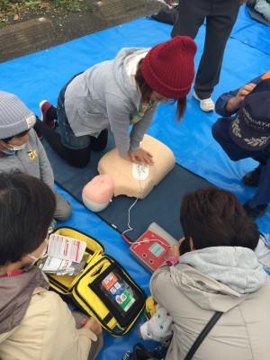 防災訓練に参加!AEDや消火器、炊き出しも体験!