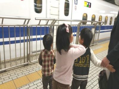 乗らなくても近くで見れる新幹線♪.*