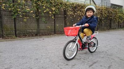 幼児自転車購入レポ!3歳身長102センチなら何インチ?購入時の注意も!