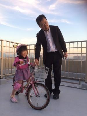 自転車の練習スタート!!