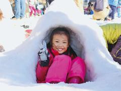 愛知県岡崎市 雪と遊ぼうin南公園