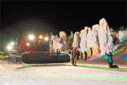 山形県 蔵王ロープウェイ 樹氷ライトアップ