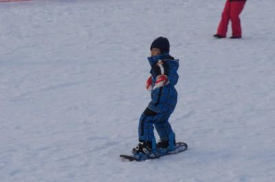 子供たち初スノーボード3日間~上達は?