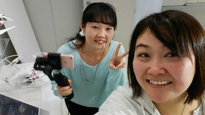 341☆ハイテク自撮り棒と動画アプリ・ 「DJI Osmo Mobile」「Dji Go」を体験!