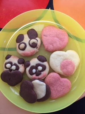 粘土感覚でクッキー作り(笑)