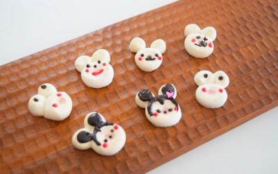 ダイソーマシュマロ2種で簡単☆バレンタインにも♪動物メレンゲクッキー。