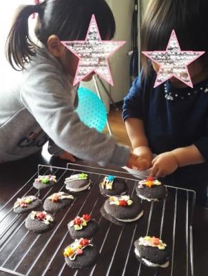 2歳女の子手作り♥バレンタインのお菓子作り(*'ω'*)!