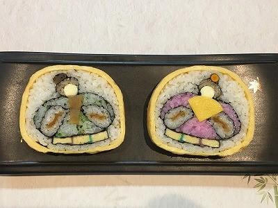 【ひな祭り】飾巻き寿司でお内裏様とお雛様を巻いてみました。
