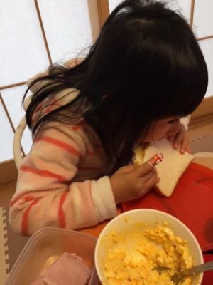 サンドウィッチ作りで家遊び!!