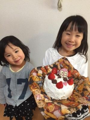 ひな祭りケーキ作りの練習♪