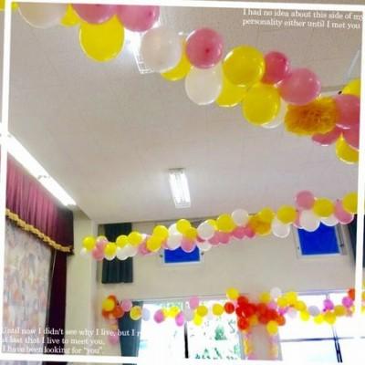 <幼稚園の謝恩会>プログラムと飾り付けとBGM