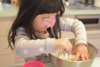 3歳女子の手作りチョコスコーンと公園デート。