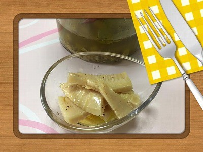 飾り巻き寿司で「こいのぼり」 旬のたけのこで「オイル漬け」