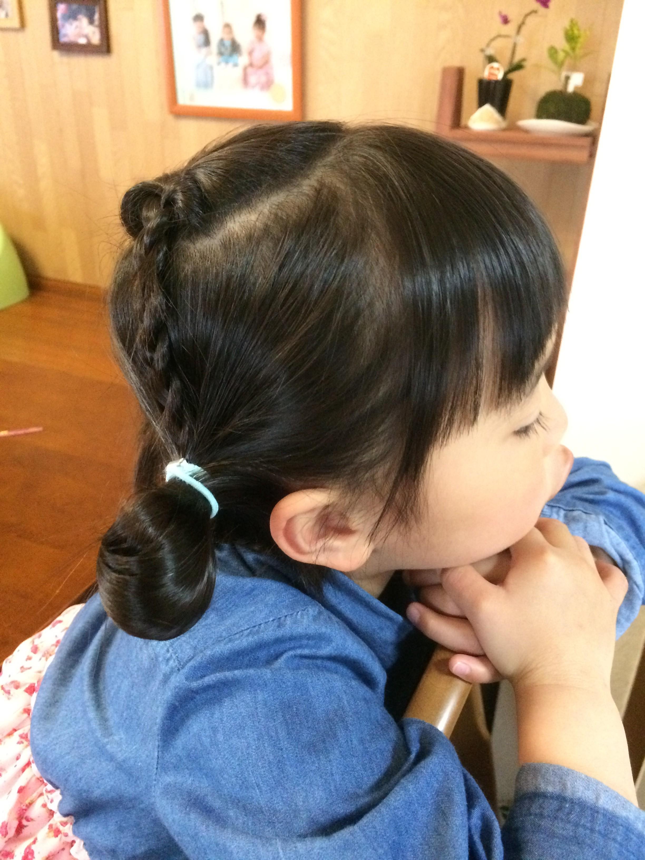 エルサ 髪型 子供