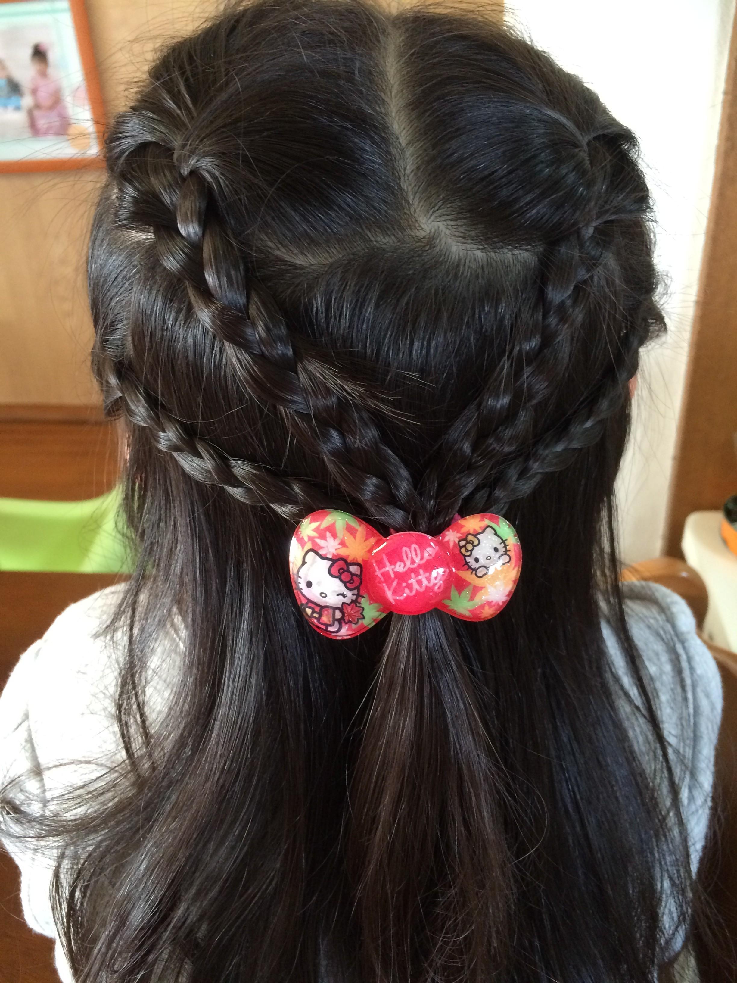 子供 髪型 結び方