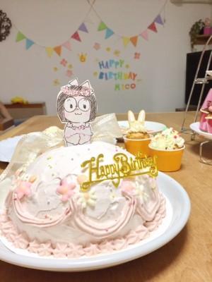 娘の誕生日にドールケーキ作ってみました!!誕生日パーティはイースター♪