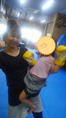 親子でチャレンジ!!キックボクシング体験